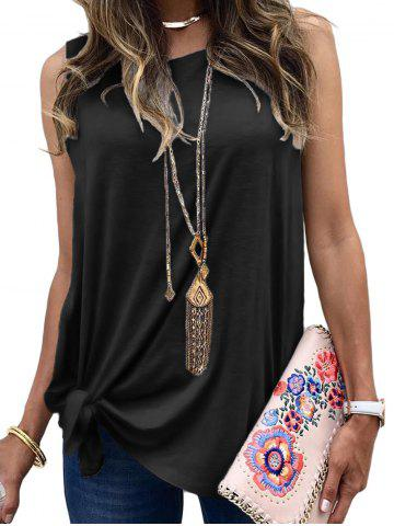 Tie Side Casual Longline Tank Top