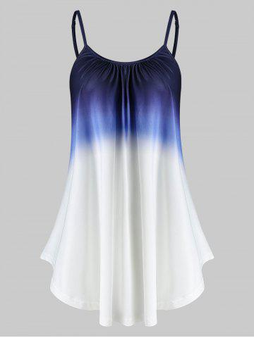 Ombre Cami Flare Tank Top