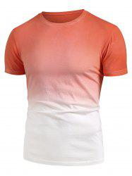 Ombre Short Sleeve Casual T Shirt -