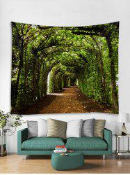 3D Forest Tunnel Pattern Tapestry -