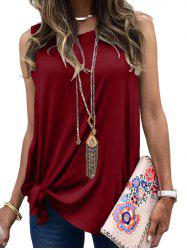 Tie Side Casual Longline Tank Top -