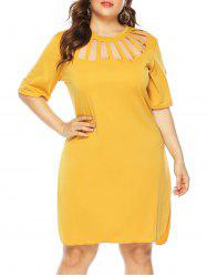 Cutout Casual Tee Plus Size Dress -