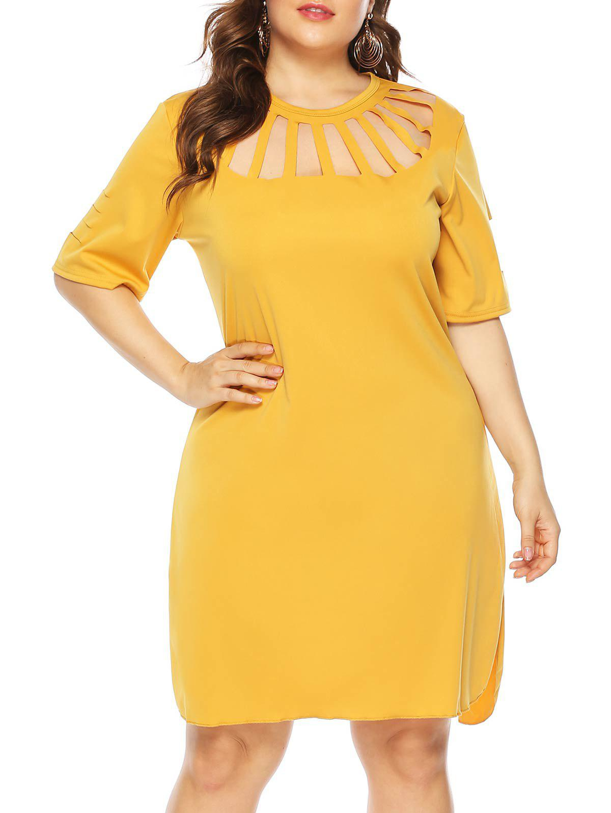 Buy Cutout Casual Tee Plus Size Dress