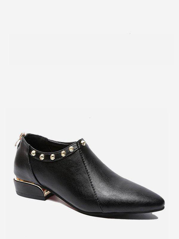 Unique Pointed Toe PU Leather Shoes with Studs
