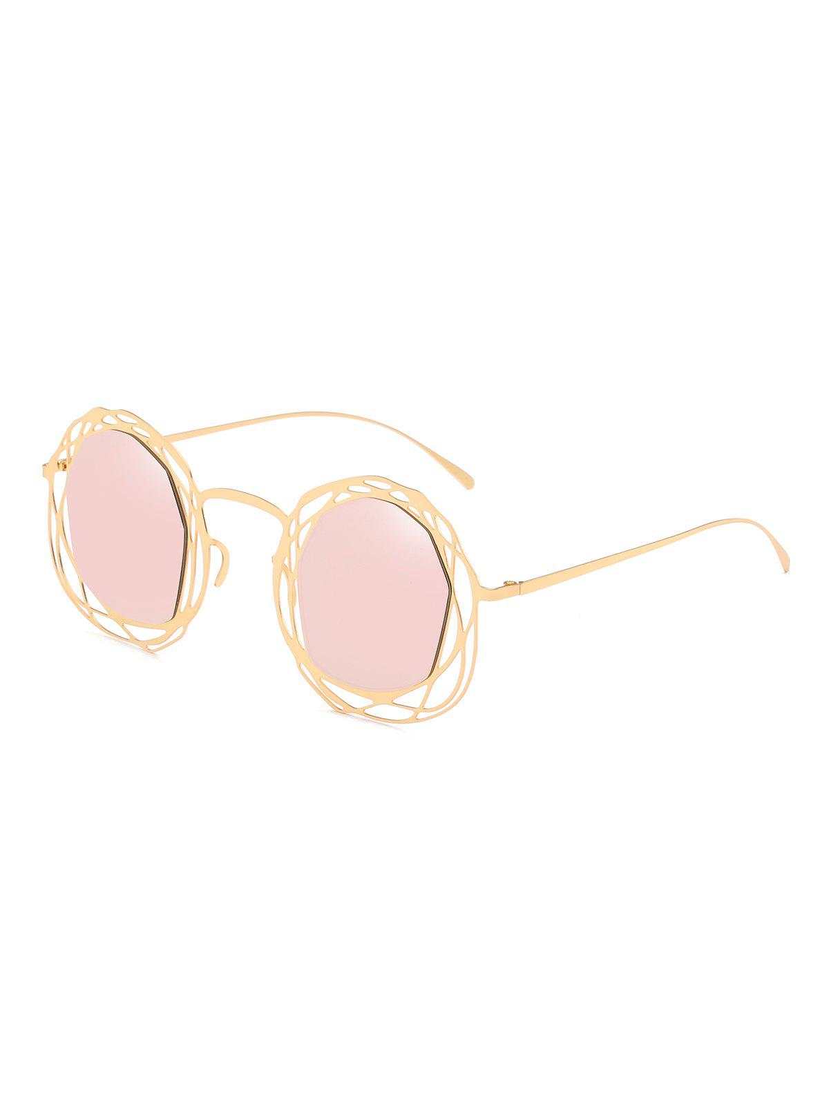 Fancy Irregular Metal Geometric Hollow Out Sunglasses