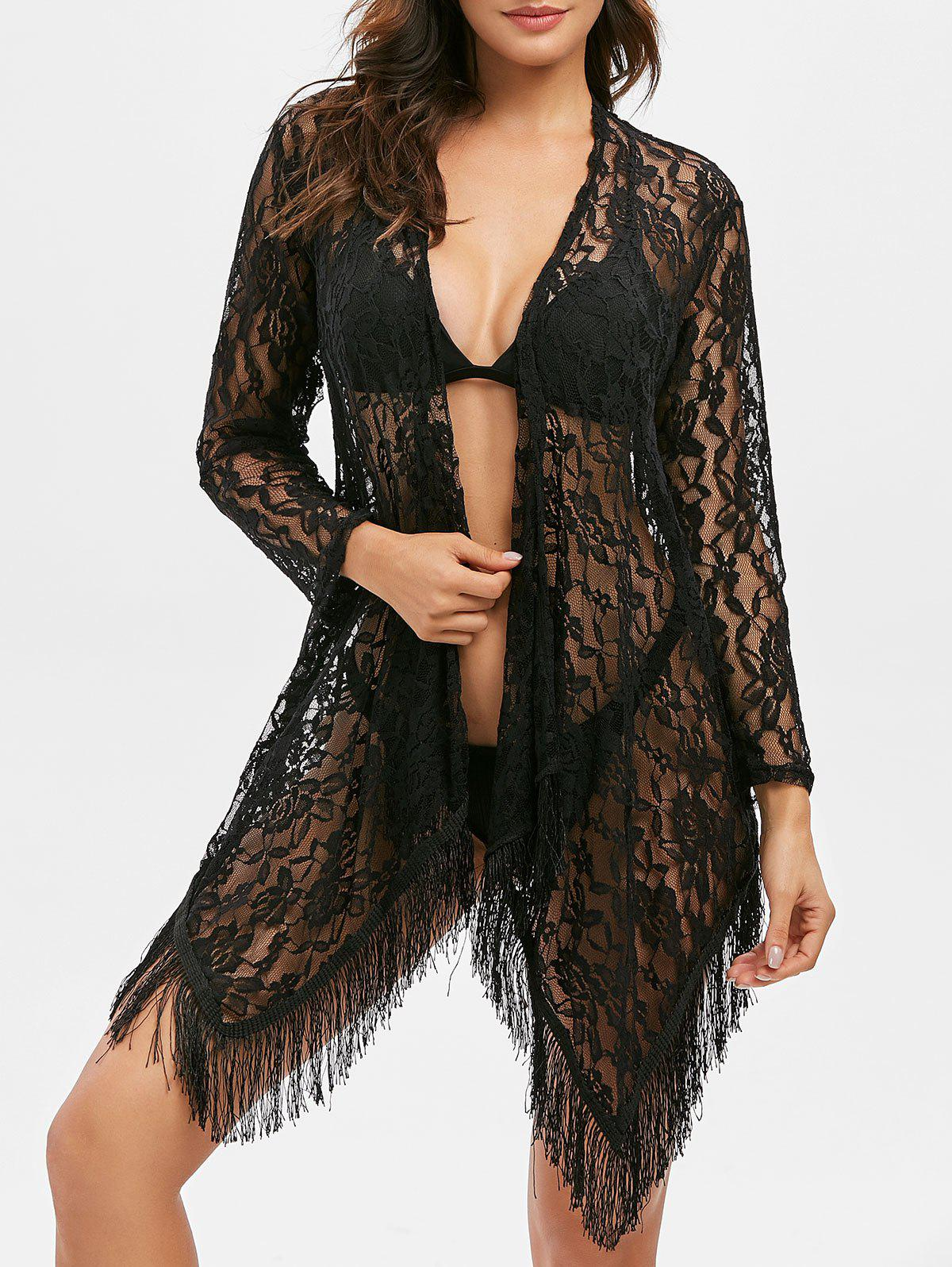 Best Open Lace See Thru Fringed Cover Up