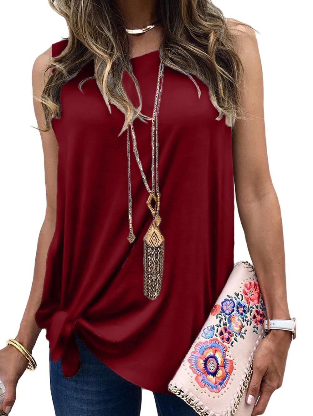 Outfits Tie Side Casual Longline Tank Top