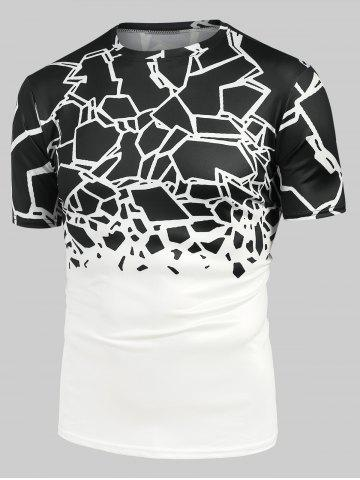 Abstract Geometric Print Short Sleeve Tee