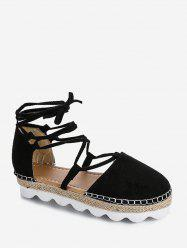 Closed Toe Lace Up Espadrille Sandals -