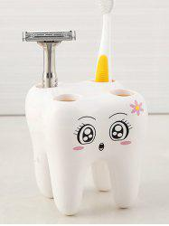 Tooth Shape Toothbrush Holder -