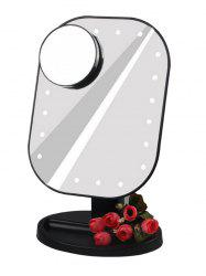 LED Light Makeup Mirror (Small Round Mirror 10X Magnifying) -