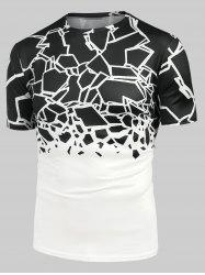 Abstract Geometric Print Short Sleeve Tee -