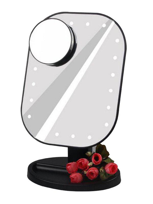 Online LED Light Makeup Mirror (Small Round Mirror 10X Magnifying)