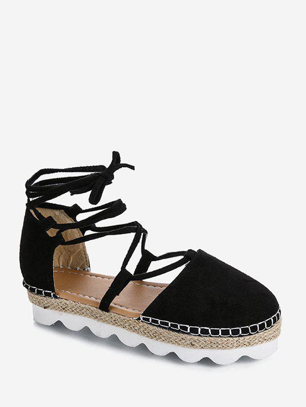 Discount Closed Toe Lace Up Espadrille Sandals