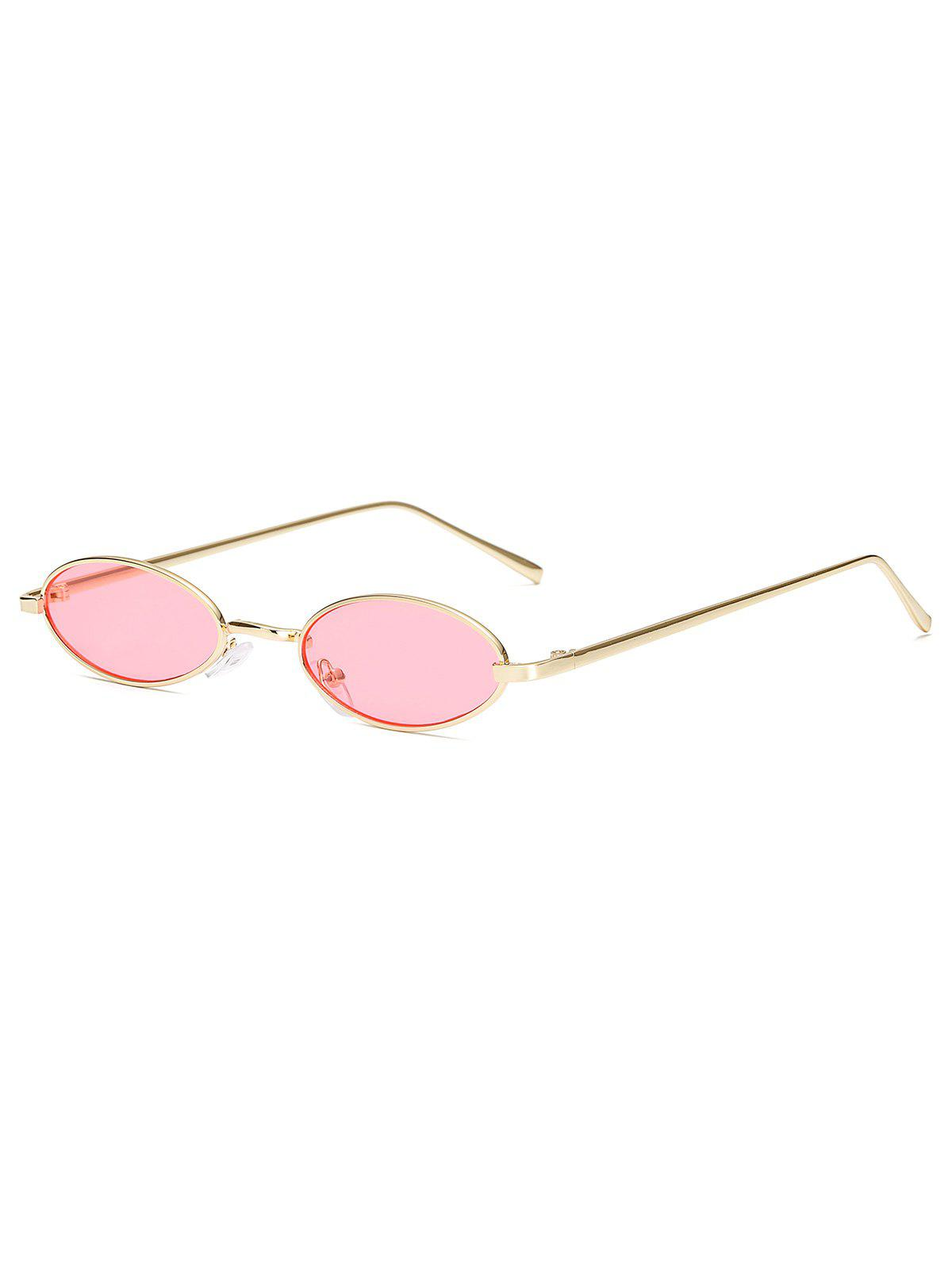 Affordable Small Vintage Oval Metal Sunglasses