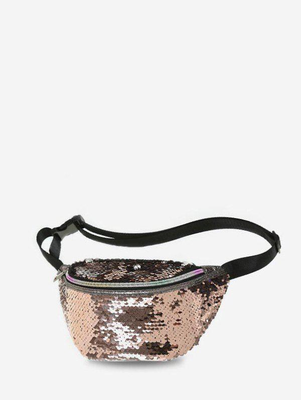 Buy Mermaid Scale Sequin Pattern Waist Bag