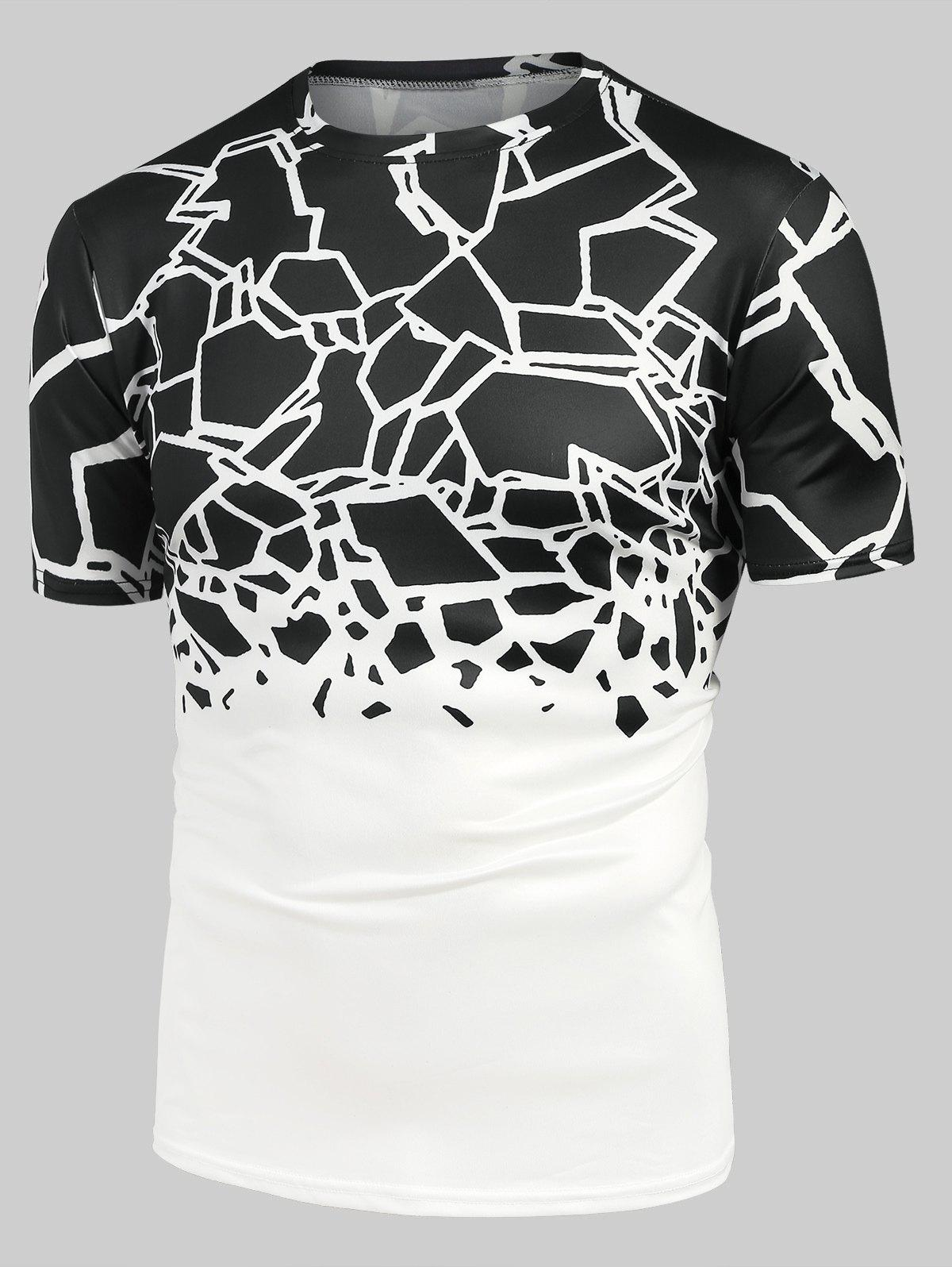 Online Abstract Geometric Print Short Sleeve Tee