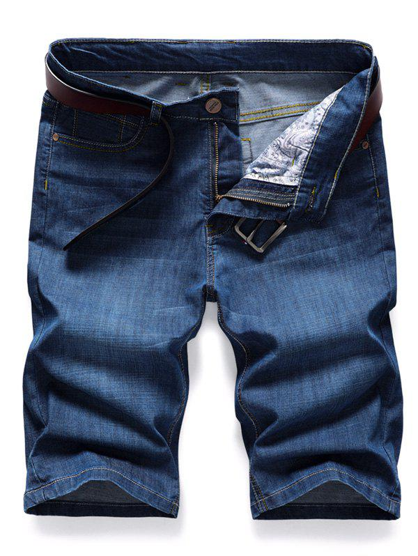 Buy Simple Style Zip Fly Jeans Shorts