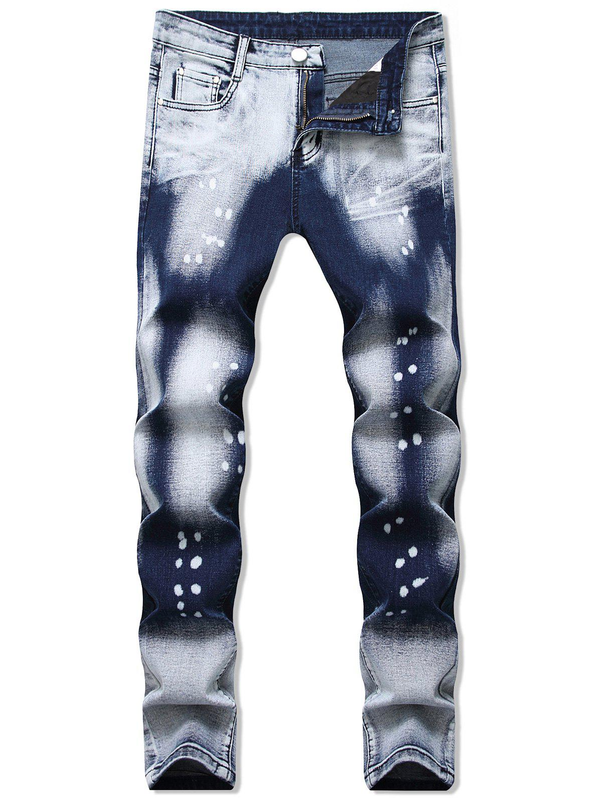 Outfits Ombre Print Zip Fly Casual Jeans