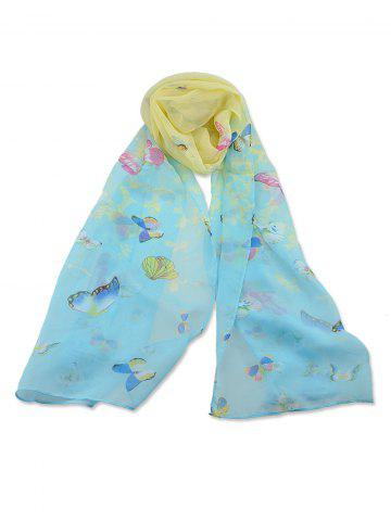 Butterfly Printed Beach Long Scarf