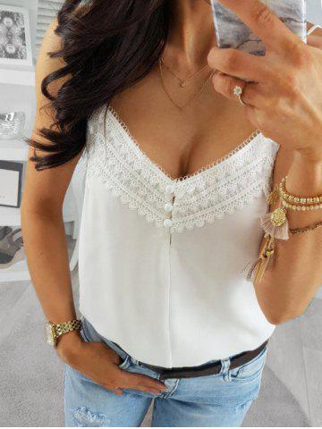 Lace Guipure Panel Backless Cami Top