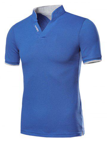 Color Spliced Casual Short Sleeves T-shirt
