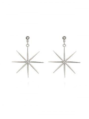 Rhinestone Inlaid Star Drop Earrings