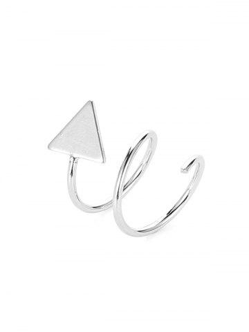Star Triangle Twist Stud Earrings