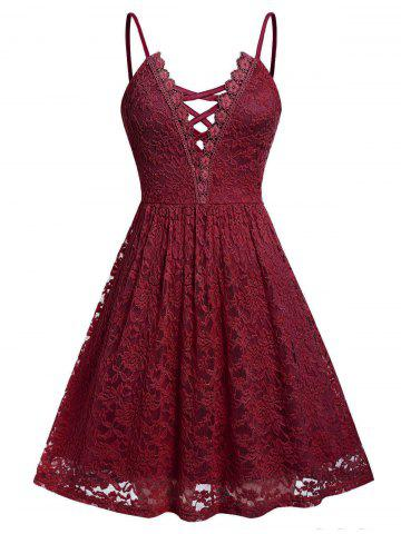 Cross | Dress | Lace | Mini | Plus | Size
