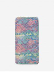 Gradient Rainbow PU Clutch Wallet -