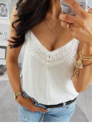 Lace Guipure Panel Backless Cami Top -