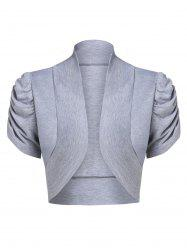 Stand Up Collar Solid Crop Top -