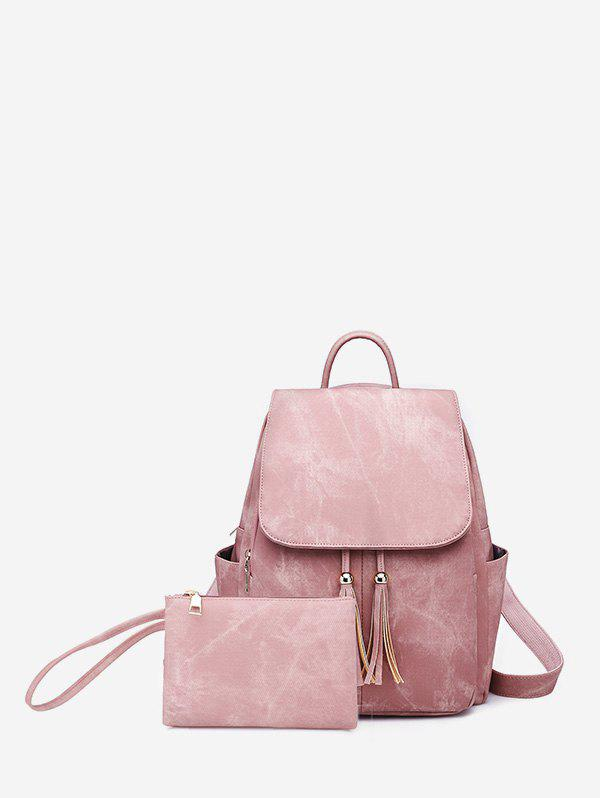 Shops Tassel Design Solid Backpack Set