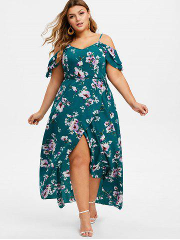 661e8e6ea5b1 Plus Size Hawaiian Dress - Maxi, Print, White And Wrap Cheap With ...