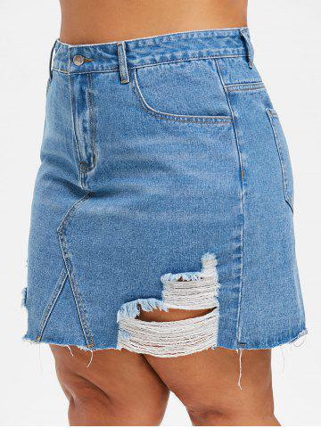 94a178a5e Plus Size Denim Skirt - Free Shipping, Discount And Cheap Sale | Rosegal