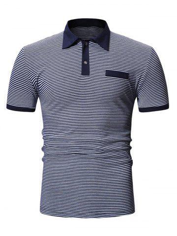 Striped Pattern Casual Short Sleeves T-shirt
