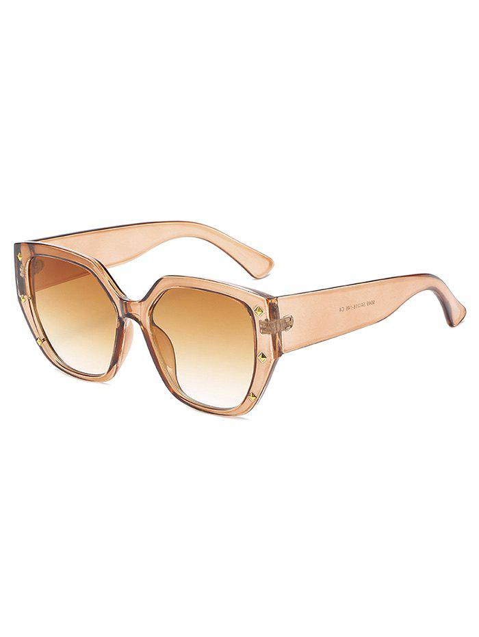Store Rivet Ombre Wide Rim Square Sunglasses