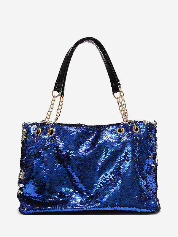 Online Club Sequin Chain Soft Shoulder Bag