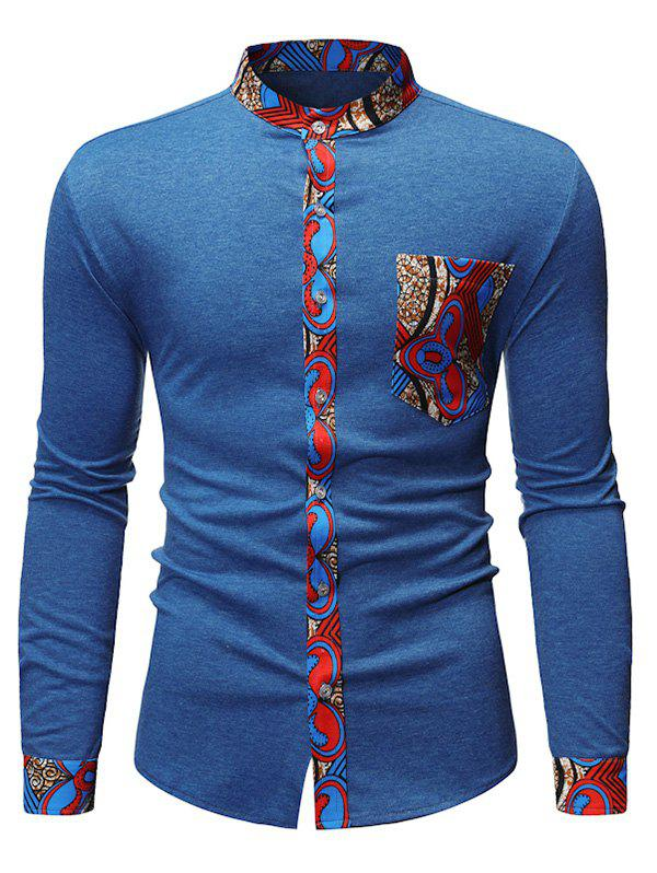 Latest Tribal Print Casual Style Long Sleeves Shirt