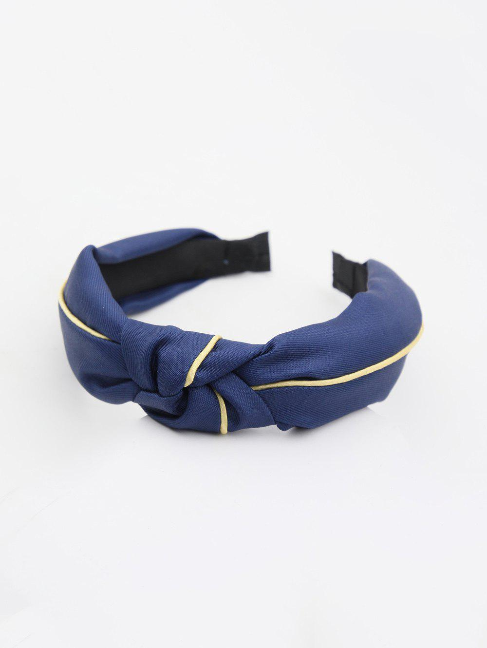 Store Striped Color Block Knot Fabric Hairband