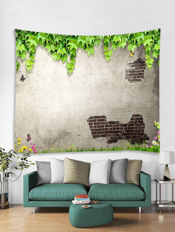 Latest Peeled Wall Plant Leaf Butterfly Print Wall Tapestry