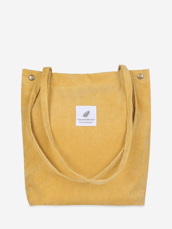 Chic Simple Canvas Tote Bag