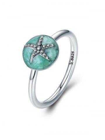 Starfish Design Rhinestone Alloy Ring
