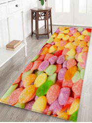 Colorful Candy 3D Print Flannel Floor Rug -