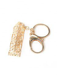 Alloy Hollow Out Engraved Flower Keychain -