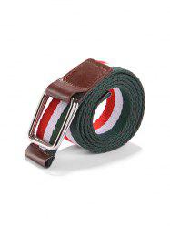 Canvas Knitted Striped Pattern Belt -