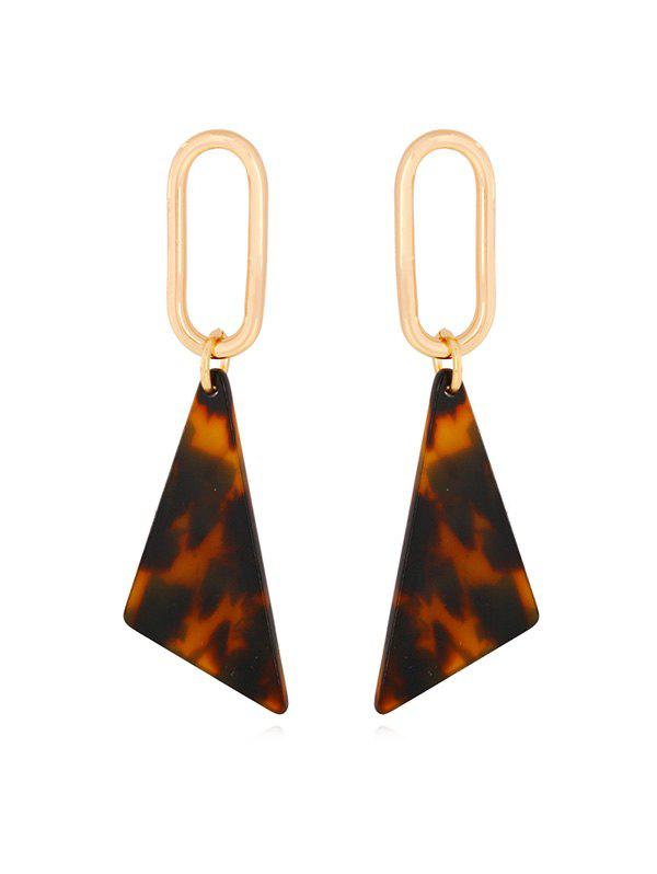 Chic Geometric Leopard Triangle Drop Earrings