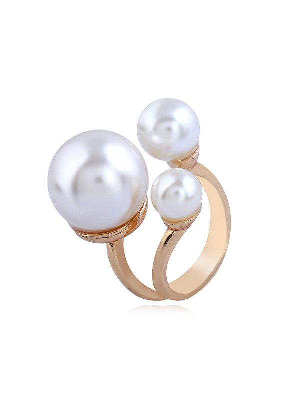 Shop Alloy Faux Pearl Open Ring