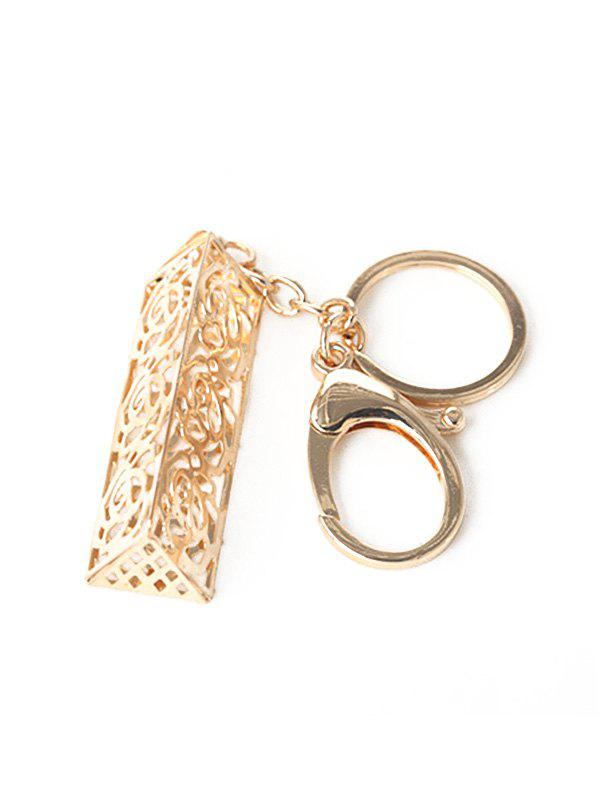 Outfit Alloy Hollow Out Engraved Flower Keychain