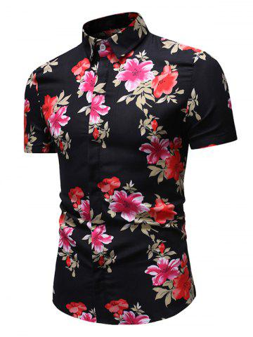 Floral Pattern Button Casual Shirt